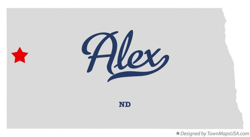 Map of Alex North Dakota ND