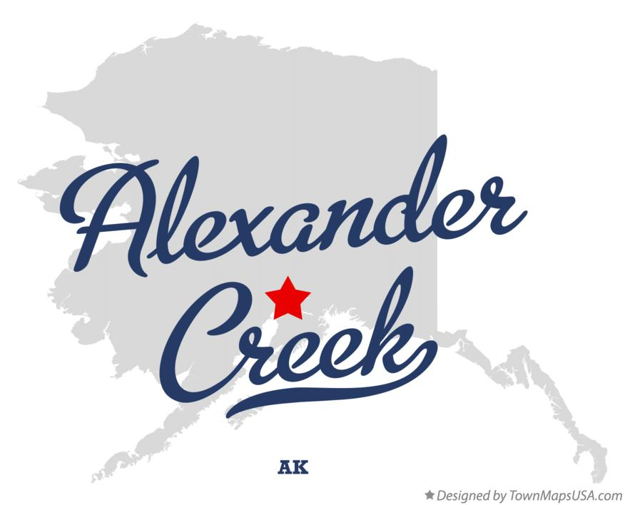 Map of Alexander Creek Alaska AK