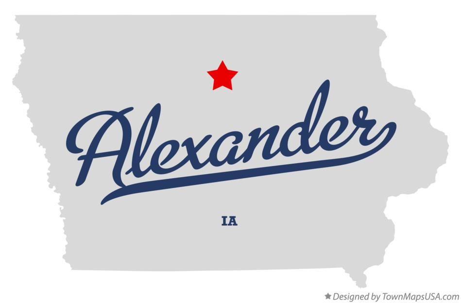 Map of Alexander Iowa IA