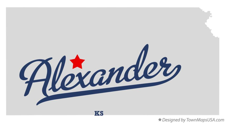 Map of Alexander Kansas KS