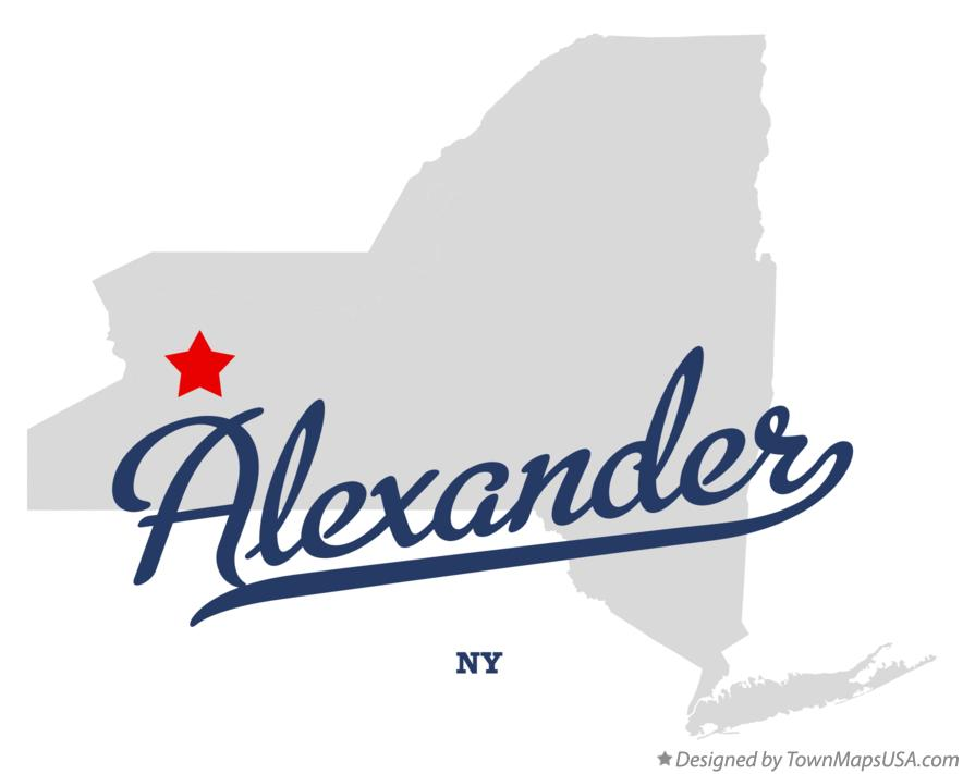 Map of Alexander New York NY