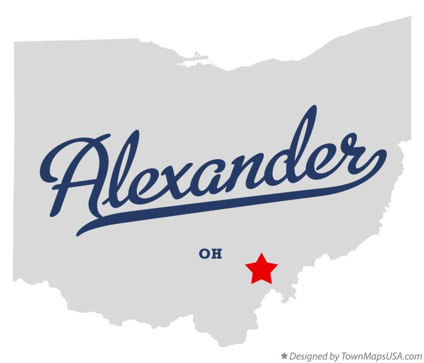 Map of Alexander Ohio OH