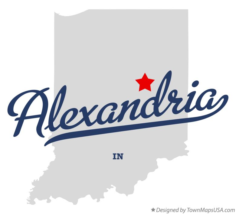 Map of Alexandria Indiana IN