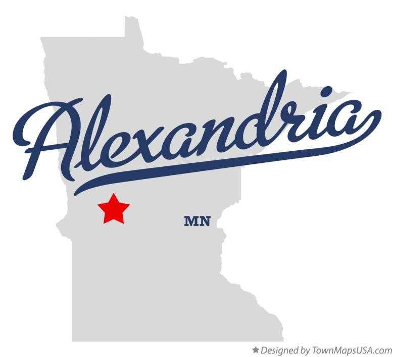Map of Alexandria Minnesota MN