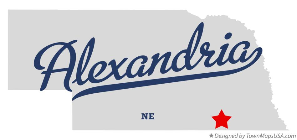 Map of Alexandria Nebraska NE
