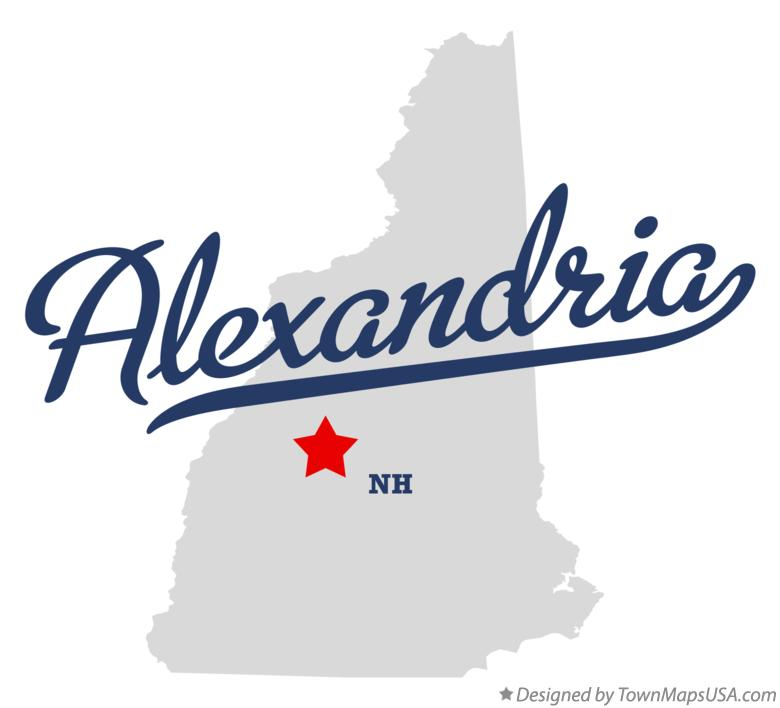 Map of Alexandria New Hampshire NH