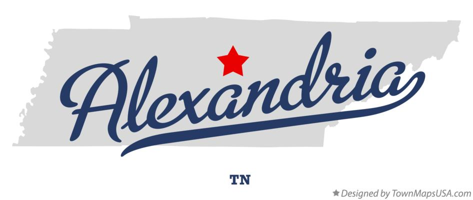 Map of Alexandria Tennessee TN