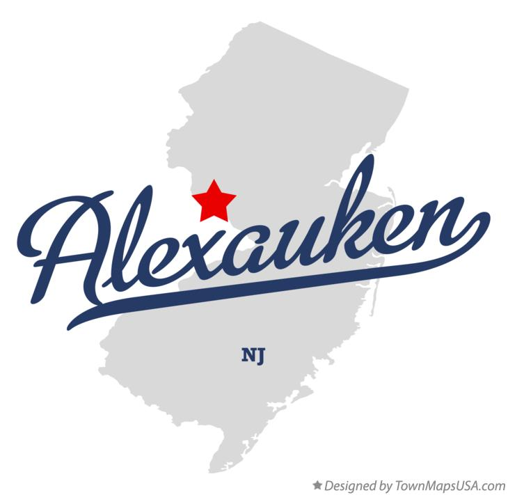 Map of Alexauken New Jersey NJ