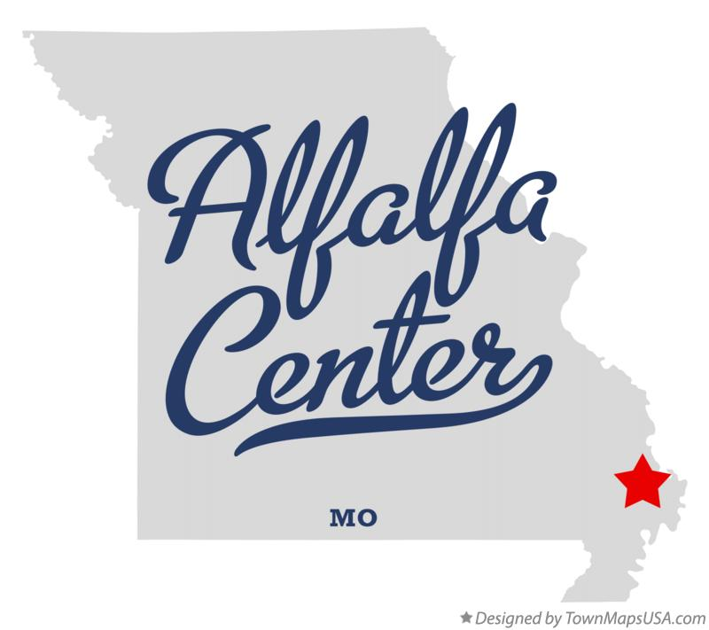 Map of Alfalfa Center Missouri MO