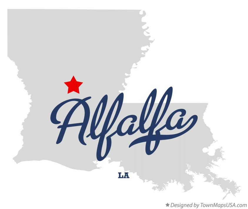 Map of Alfalfa Louisiana LA