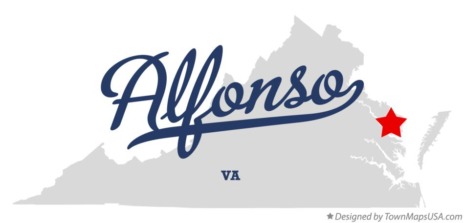 Map of Alfonso Virginia VA