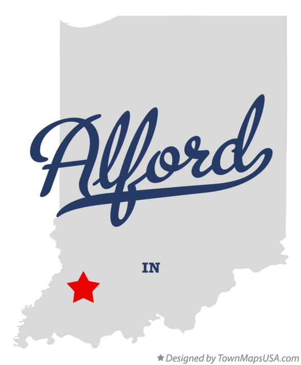 Map of Alford Indiana IN