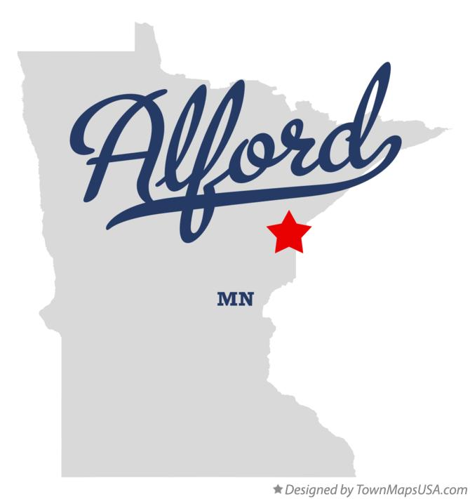 Map of Alford Minnesota MN