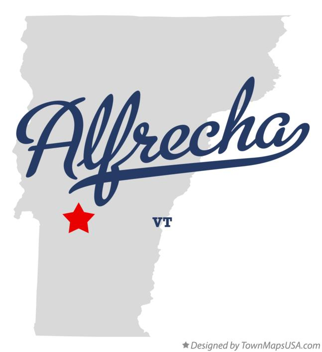 Map of Alfrecha Vermont VT