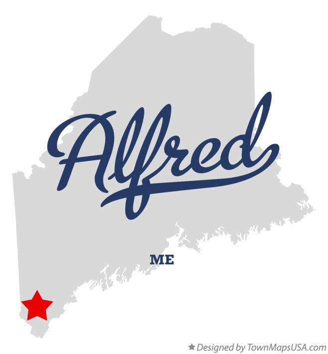 Map of Alfred Maine ME