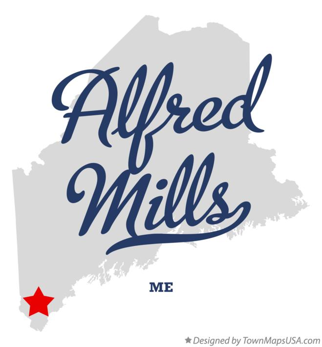 Map of Alfred Mills Maine ME