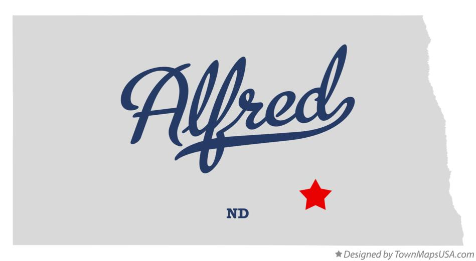 Map of Alfred North Dakota ND