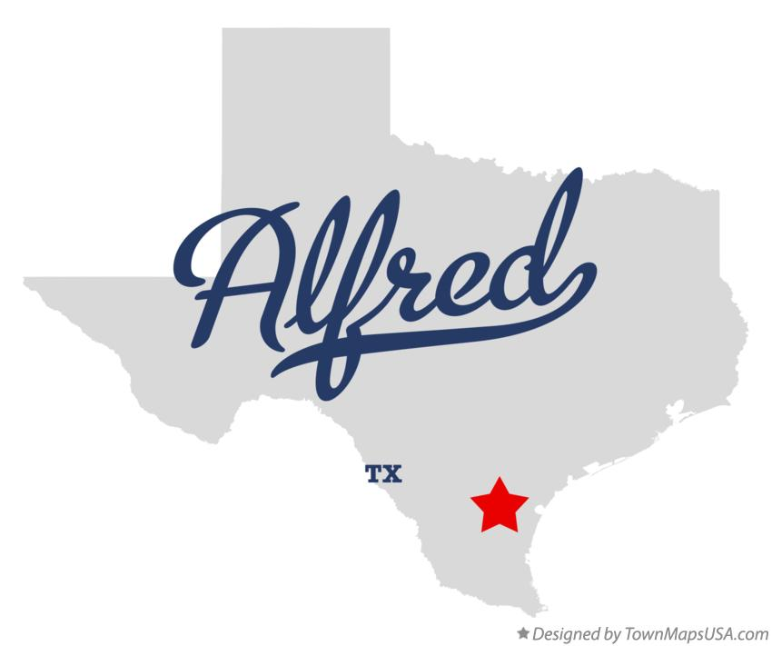 Map of Alfred Texas TX