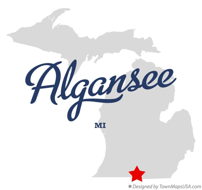 Map of Algansee Michigan MI