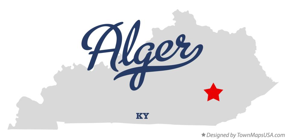 Map of Alger Kentucky KY