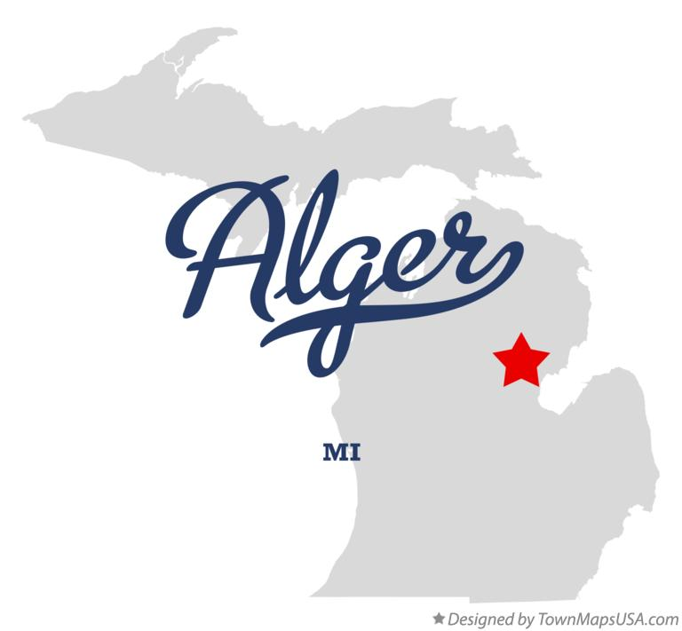 Map of Alger Michigan MI