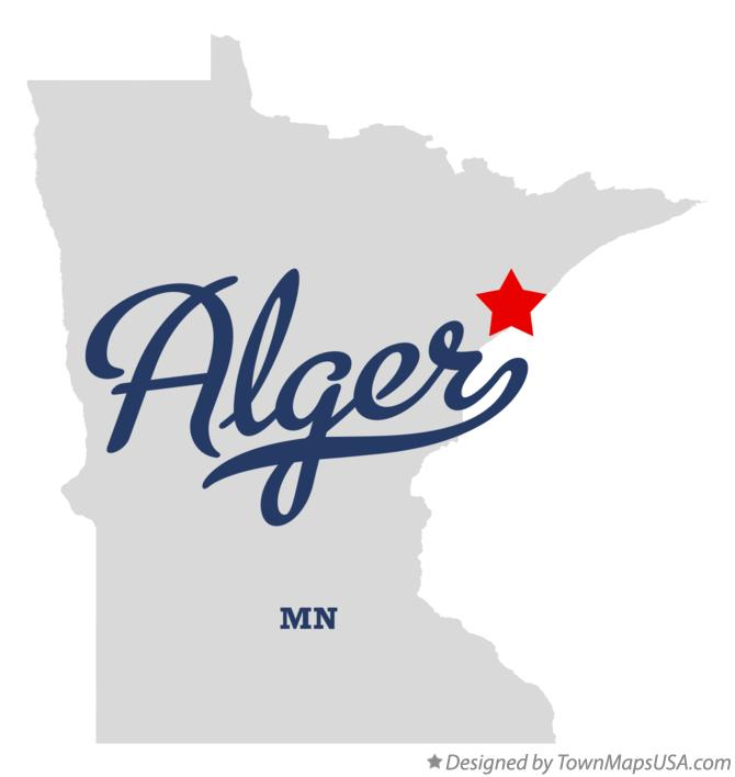 Map of Alger Minnesota MN