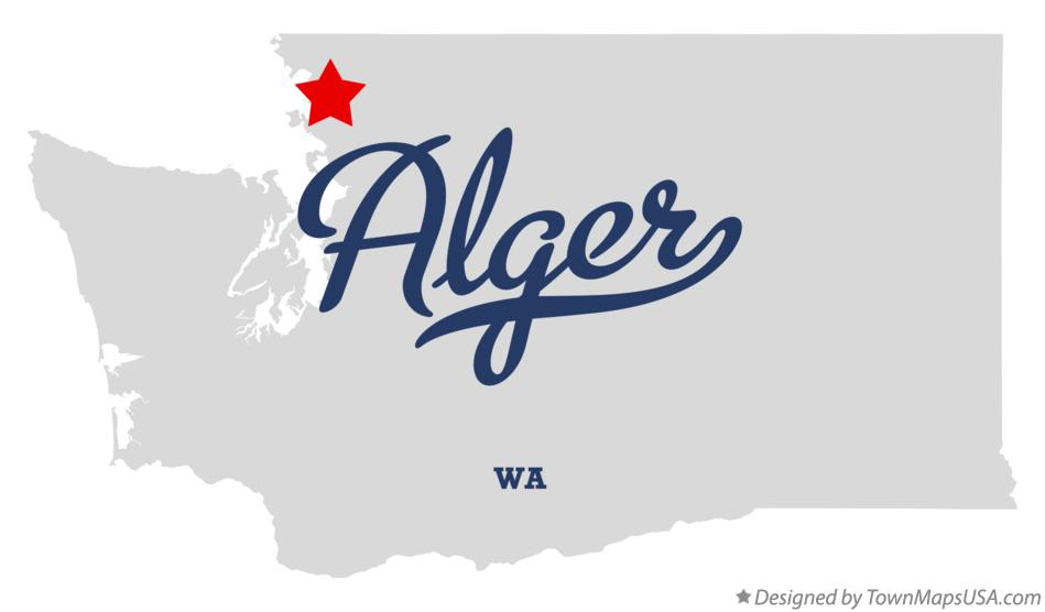 Map of Alger Washington WA