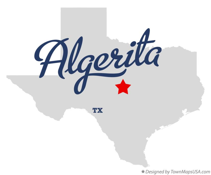 Map of Algerita Texas TX