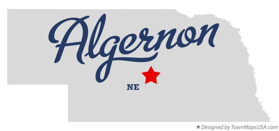 Map of Algernon Nebraska NE