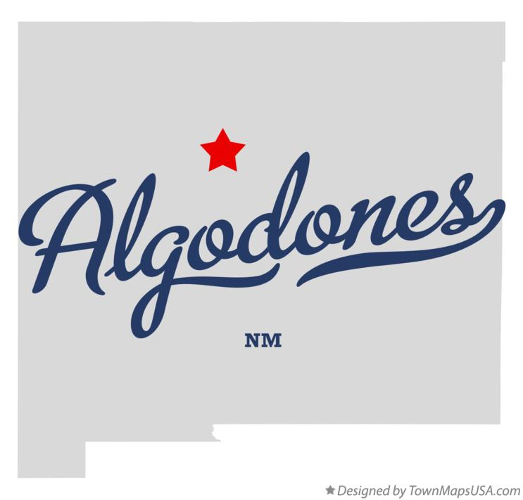 Map of Algodones New Mexico NM