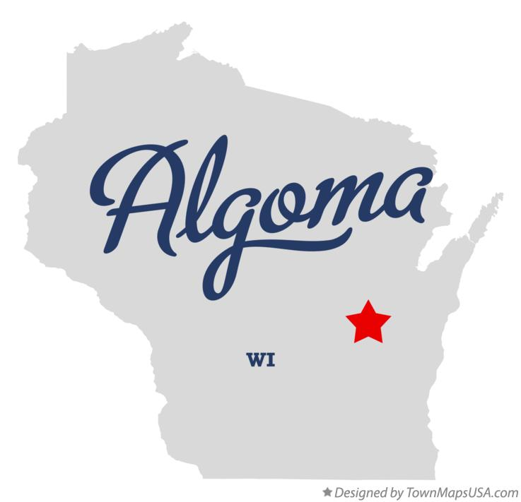 Map of Algoma Wisconsin WI
