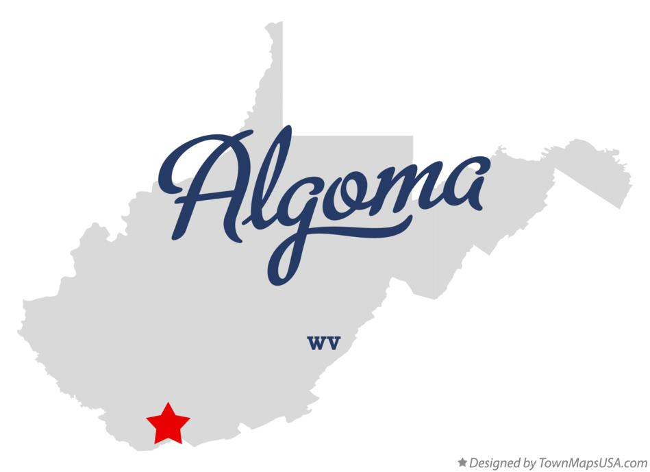 Map of Algoma West Virginia WV