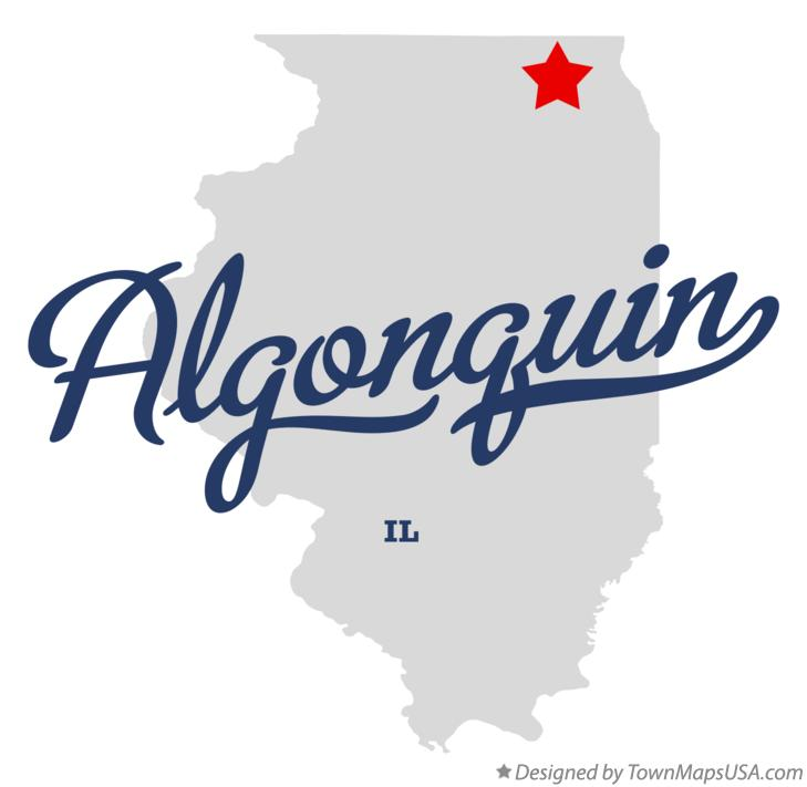 Map of Algonquin Illinois IL