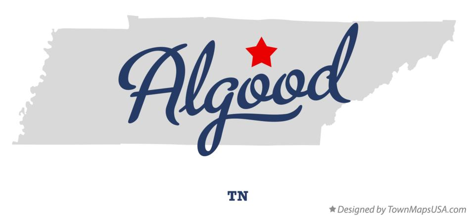 Map of Algood Tennessee TN