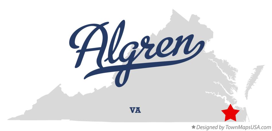 Map of Algren Virginia VA