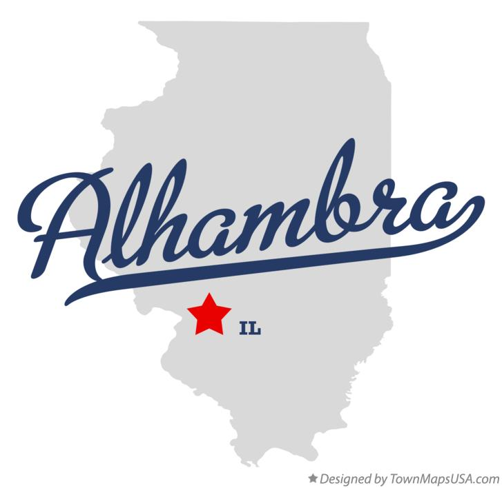 Map of Alhambra Illinois IL