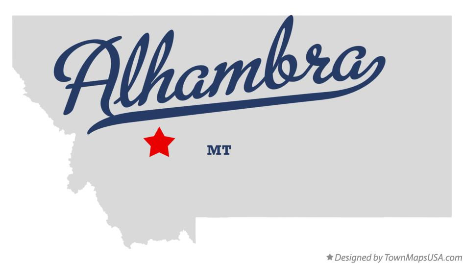 Map of Alhambra Montana MT
