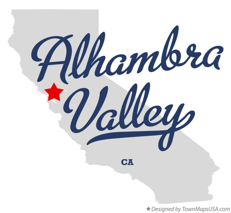 Map of Alhambra Valley California CA