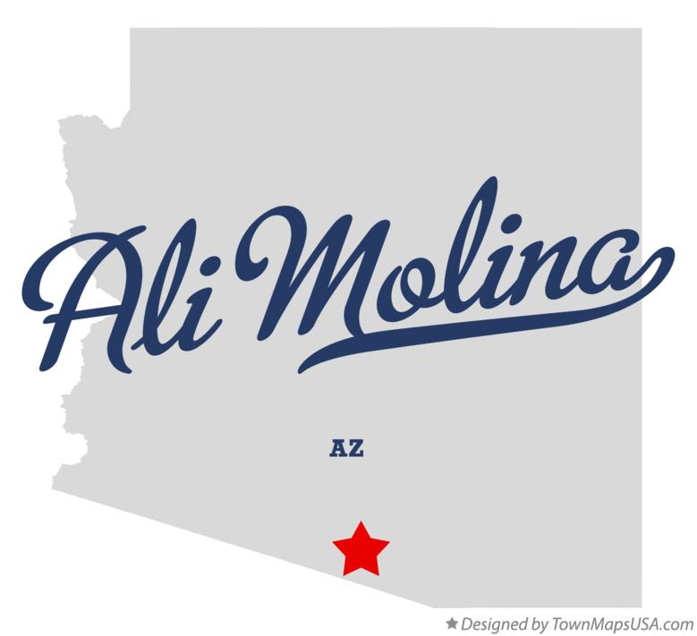 Map of Ali Molina Arizona AZ
