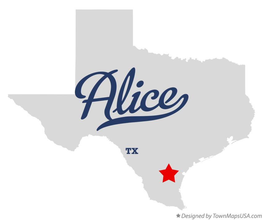 Map of Alice Texas TX