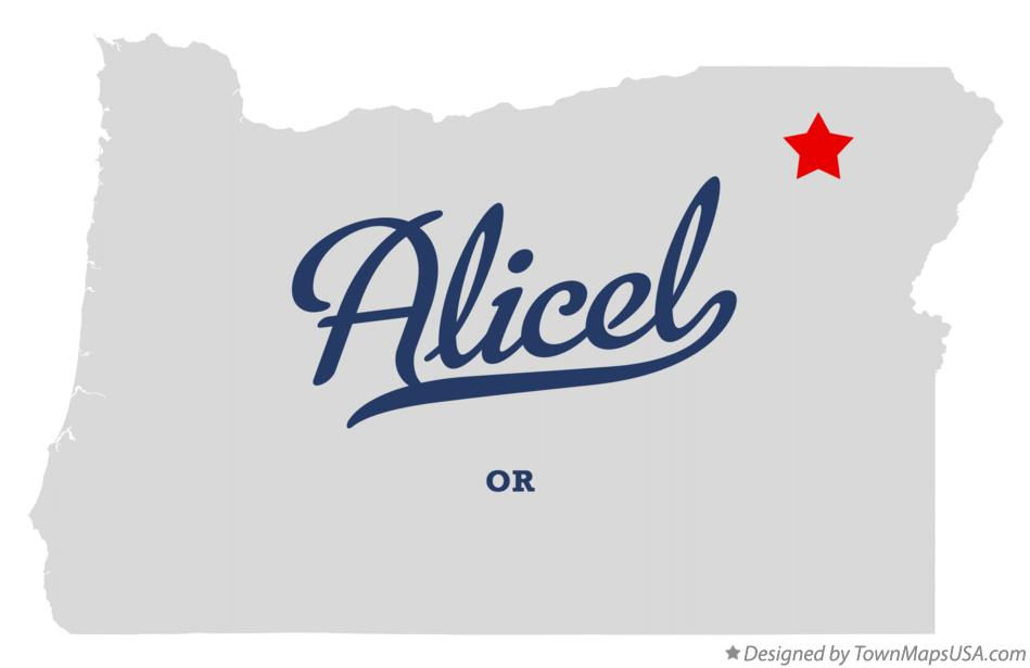 Map of Alicel Oregon OR