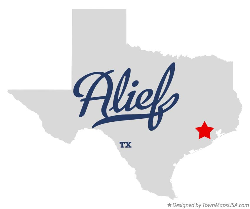 Map of Alief Texas TX