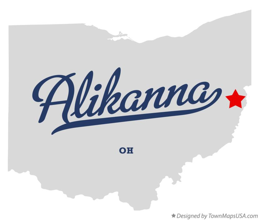 Map of Alikanna Ohio OH