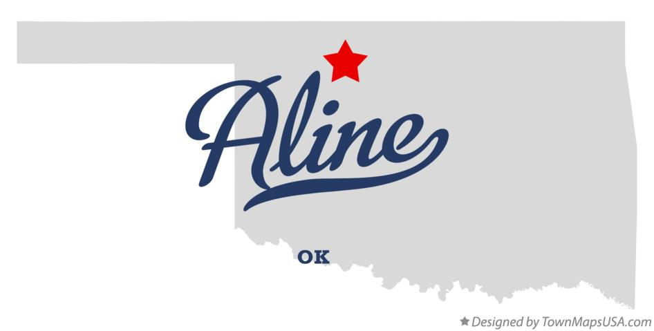 Map of Aline Oklahoma OK