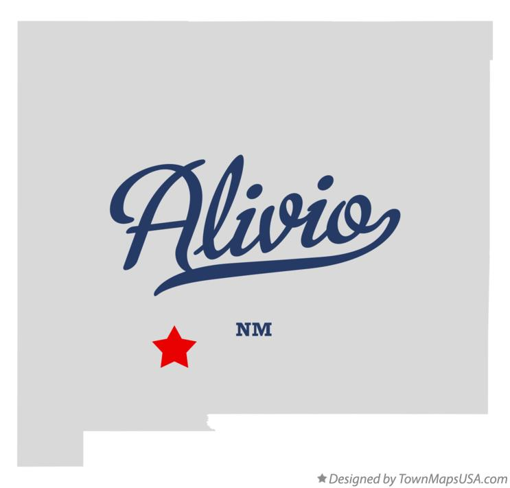 Map of Alivio New Mexico NM