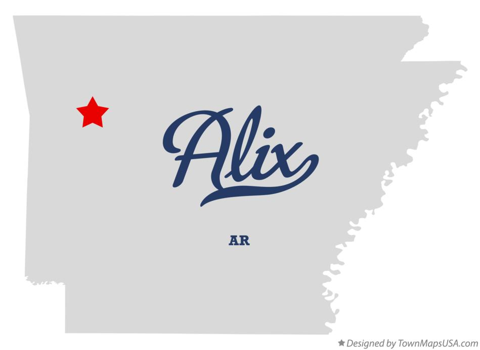Map of Alix Arkansas AR