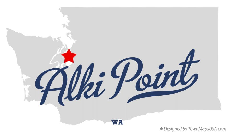 Map of Alki Point Washington WA