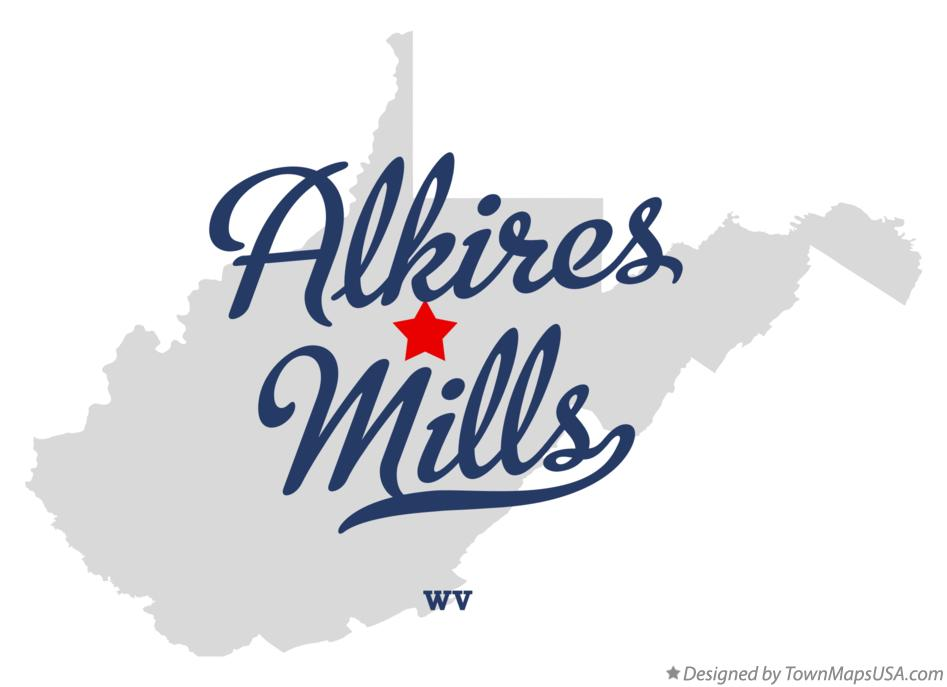 Map of Alkires Mills West Virginia WV