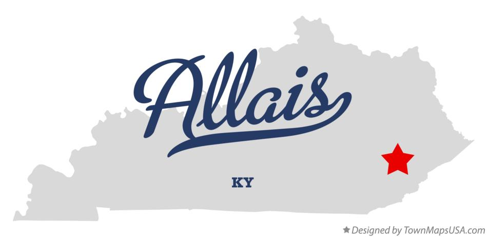 Map of Allais Kentucky KY