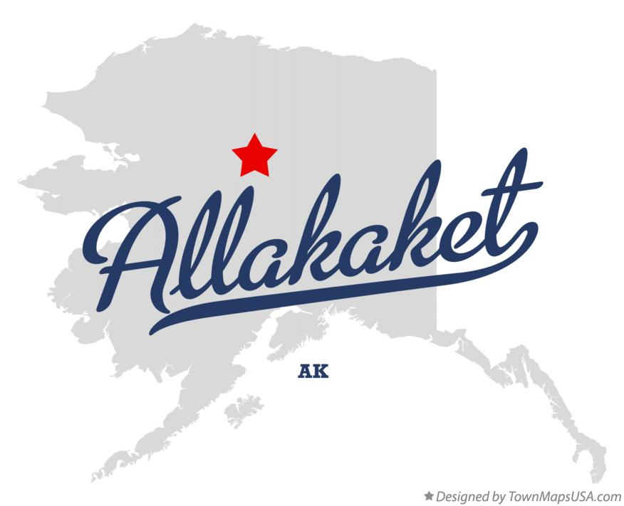 Map of Allakaket Alaska AK